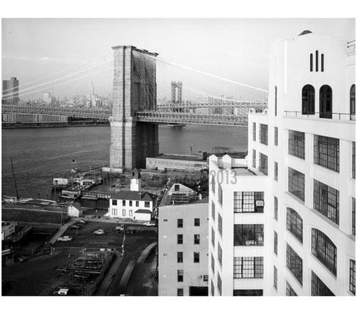 view looking north east at the Brooklyn Tower from rooftop of Watchtower Building in Brooklyn Old Vintage Photos and Images