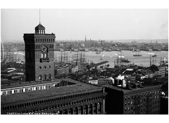 View of East River & Brooklyn Old Vintage Photos and Images
