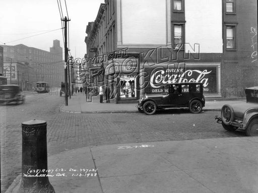 View on Manhattan Avenue, 1928 Old Vintage Photos and Images