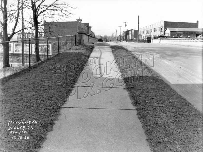 View west along the Seeley Street Viaduct Bridge, 1928 Old Vintage Photos and Images