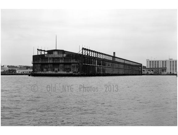 View West Rear - south Elevators and connecting bridge - pier 4 - Brooklyn Army Supply Base Old Vintage Photos and Images