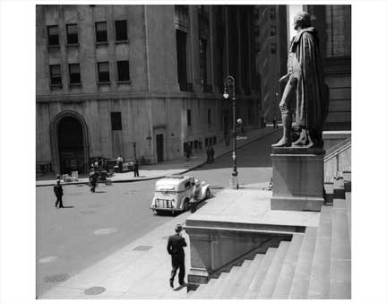 Wall Street Steps Old Vintage Photos and Images
