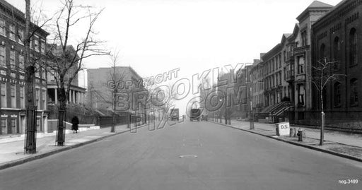 Washington Avenue north from Lafayette Avenue, 1931 Old Vintage Photos and Images