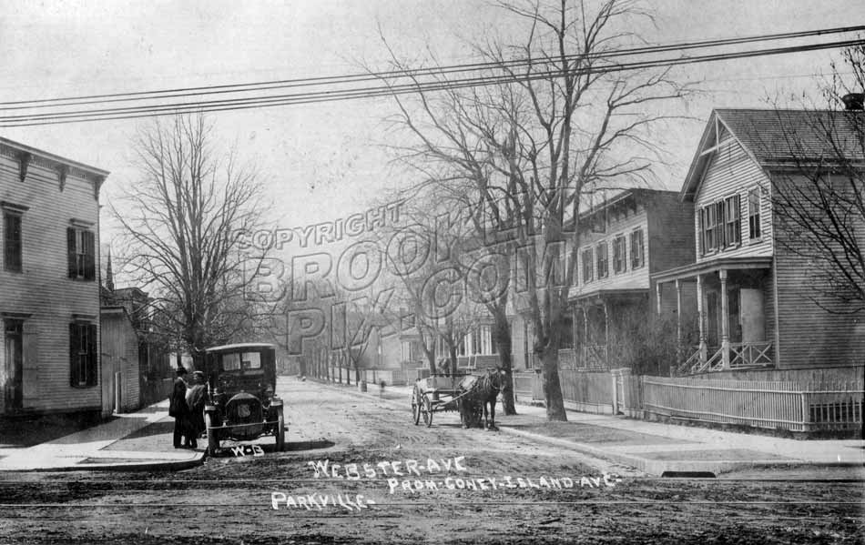 Webster Avenue looking west from Coney Island Avenue, 1906 Old Vintage Photos and Images