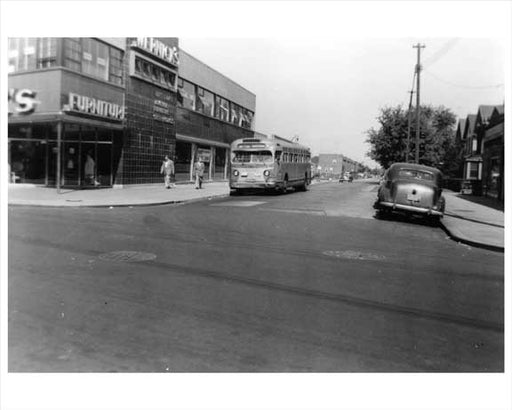 Wernick's Sheephead Bay RD & E. 16th Street Bus - Brooklyn, NY 1952 Old Vintage Photos and Images