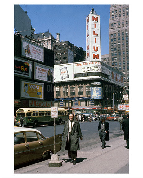 West 42nd Street 1950s Old Vintage Photos and Images