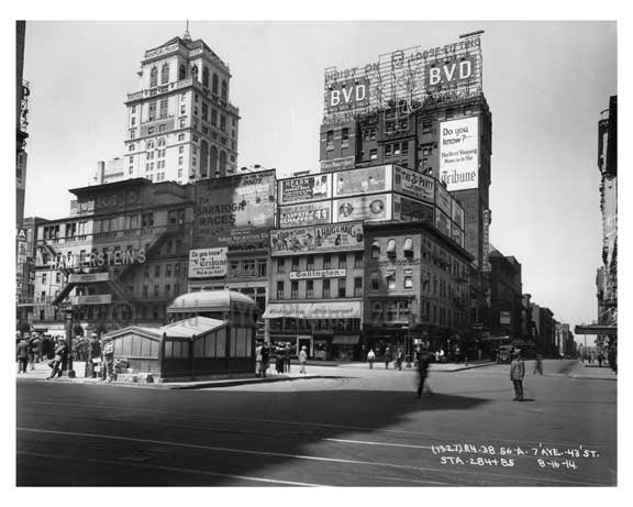 West 43rd Street & 7th Avenue - Midtown - Manhattan  1914 Old Vintage Photos and Images