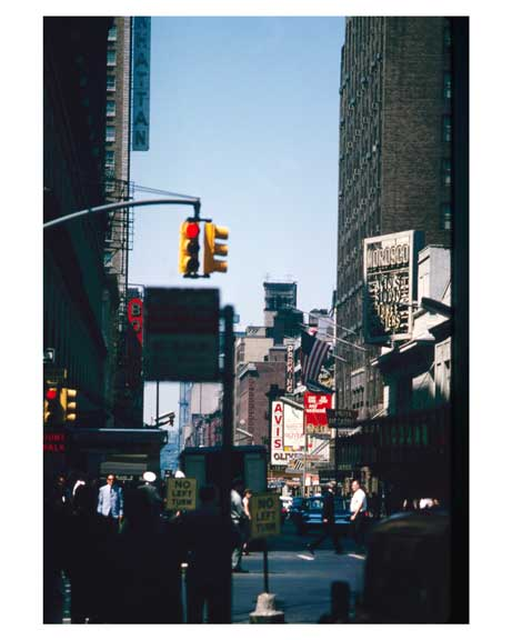 West 45th Street 1964  -  New York, NY Old Vintage Photos and Images