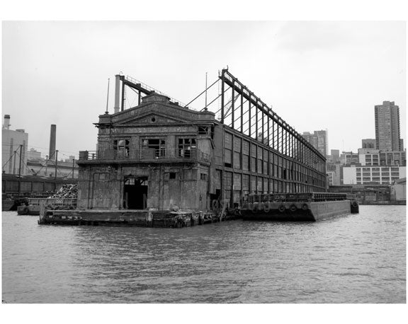 West 55th Street pier outshore facade & southside - facing the Hudson River Old Vintage Photos and Images