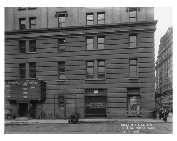 West Side of the Times Building - Midtown Manhattan - 1915 A Old Vintage Photos and Images