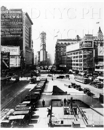 White Way down to 42nd Street Times Square Manhattan NYC Old Vintage Photos and Images