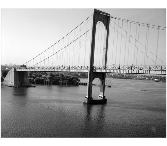 Whitestone Bridge - south tower in view Old Vintage Photos and Images