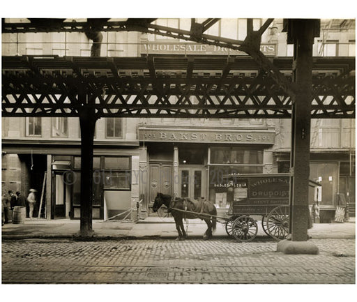 """Wholesale Druggists"" 101 Bowery - between Grand Street & Hester Street 1915 Old Vintage Photos and Images"