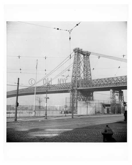 Williamsburg Bridge 1948 as seen from Broadway & Kent Brooklyn, NY Old Vintage Photos and Images