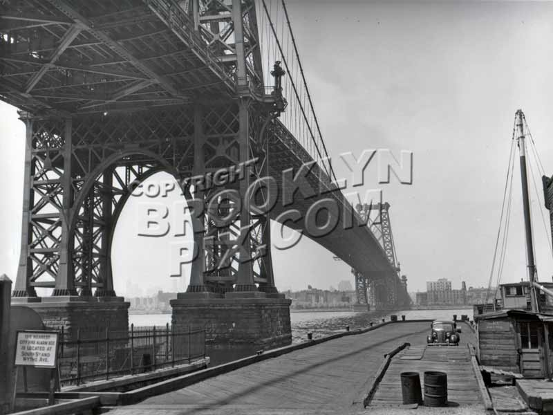 Williamsburg Bridge from the Brooklyn side, 1940s Old Vintage Photos and Images