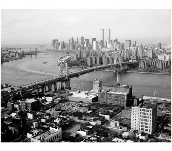Williamsburg Bridge - from Williamsburg Community looking southeast towards Manhattan Old Vintage Photos and Images