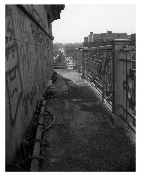 Williamsburg Bridge - Pedestrian walkway 1980s  - Brooklyn, NY C