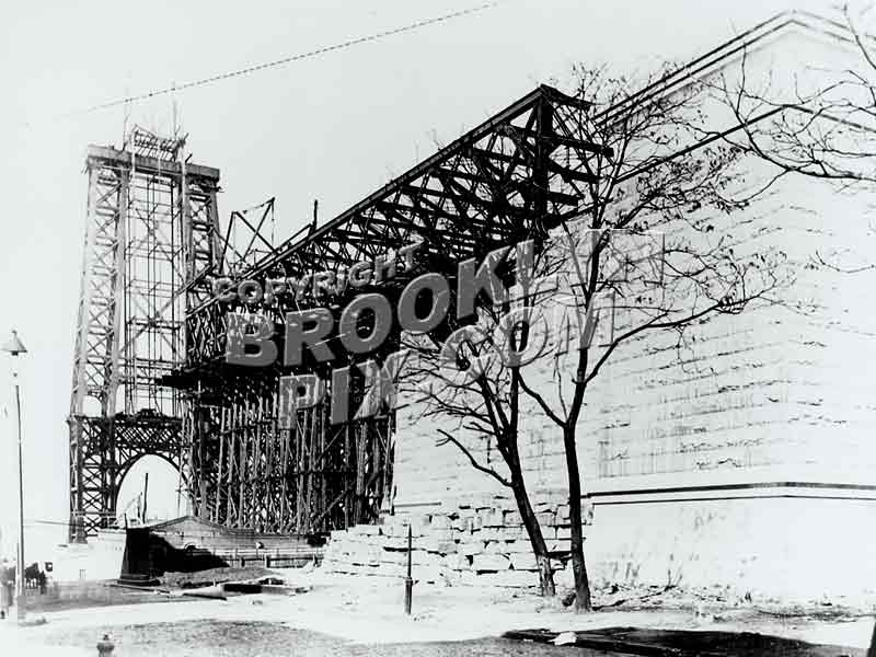 Williamsburg Bridge Under Construction, 1901 Old Vintage Photos and Images