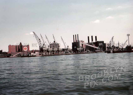Williamsburg waterfront, showing Schaefer Brewery, c.1959 Old Vintage Photos and Images