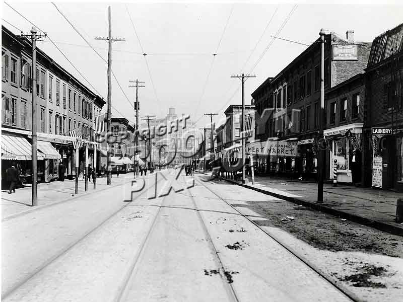 Wythe Avenue looking north from Taylor Street, 1910 Old Vintage Photos and Images