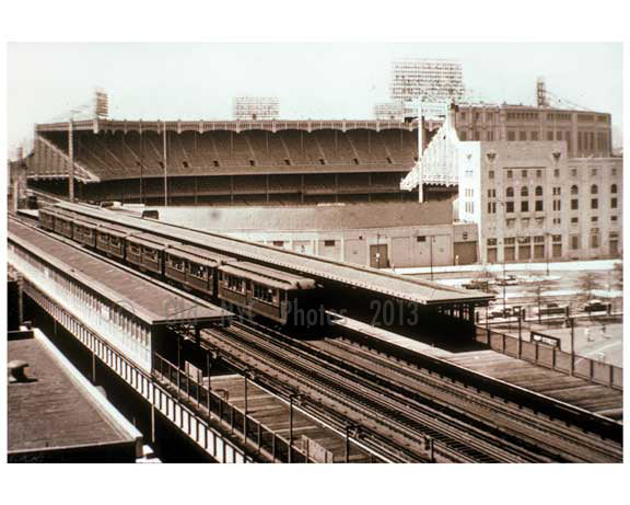 Yankee Stadium from elevated Subway 1950s Old Vintage Photos and Images