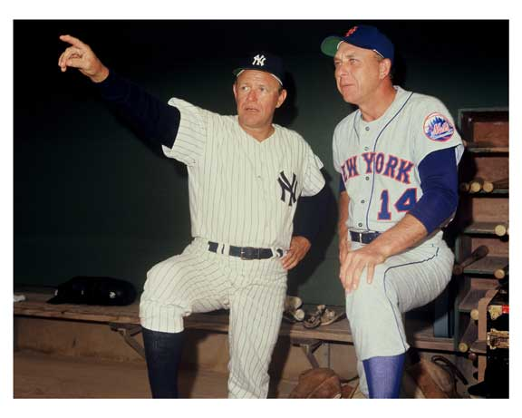 Yankees & Mets coaches In the dug out
