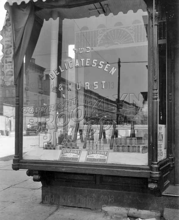 Youngerman's Kosher German Delicatessen, 385 Marcy Avenue at Middleton Street, 1918 Old Vintage Photos and Images