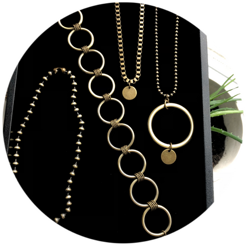 Handmade jewelry sustainably made in small batches to reduce waste.