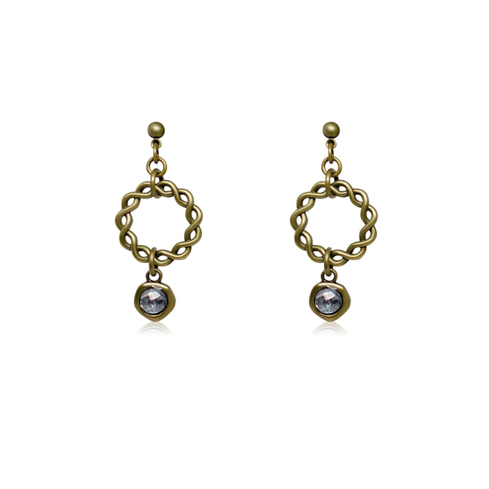 JAESON CRYSTAL EARRINGS GOLD