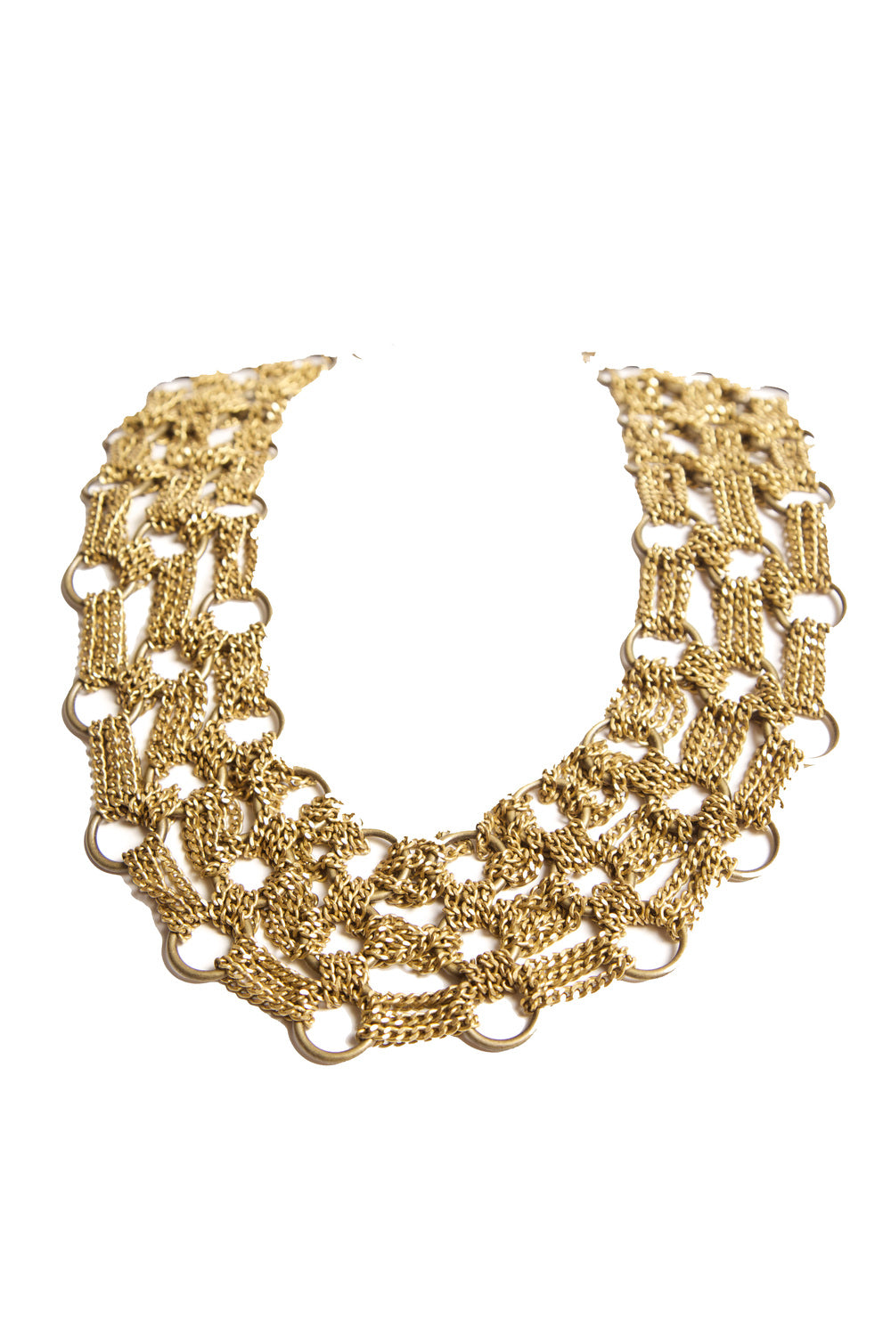 women's statement necklace in gold