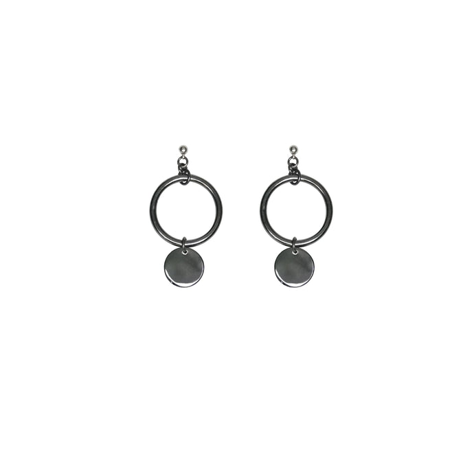 Women's silver chandelier earrings.