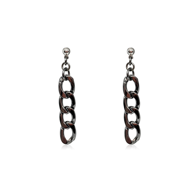 Handmade gunmetal statement earrings for women.