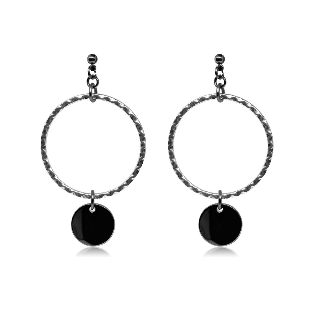 Silver chandelier earrings for women.