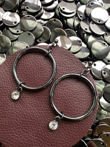 CIRCLE CRYSTAL EARRINGS