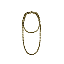 Women's gold chain necklace.