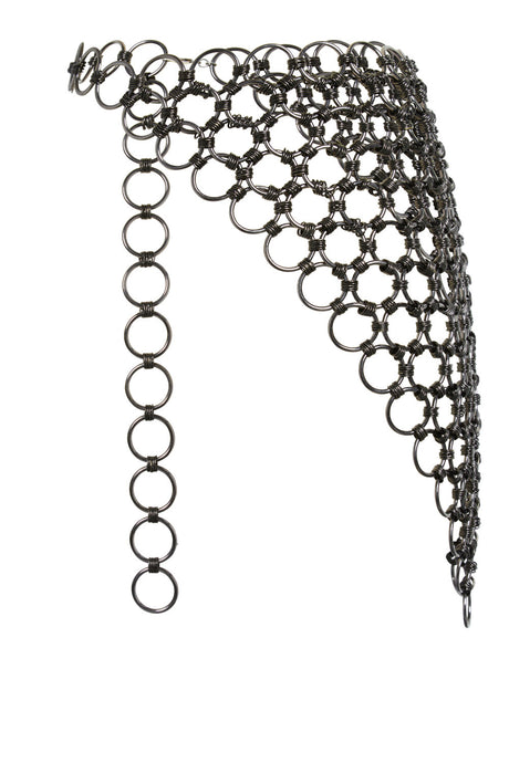Silver waist chain for women.