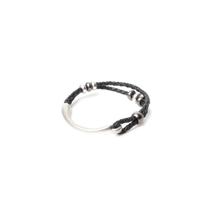 Billie is our lover, and we especially love it's braided black leather, and mixed silver adornments. Silver mixed with oxidized silver- we'll take one in each size! Good thing it comes in small, medium and large.