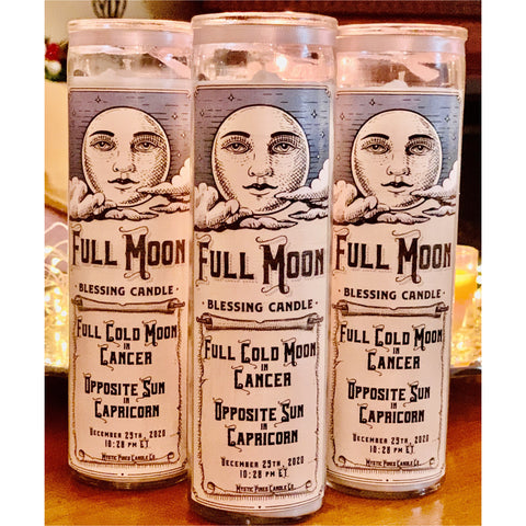 Full Cold Moon in Cancer Blessing Candle