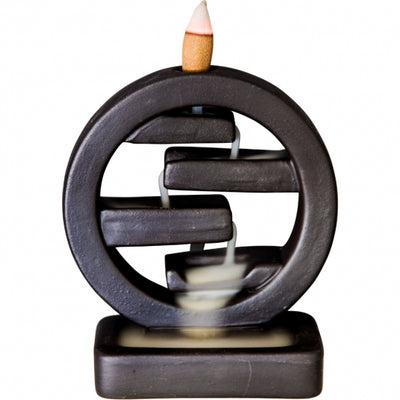 Ceramic Backflow Incense Burner - Feng Shui - Mystic Pines Candle Co.