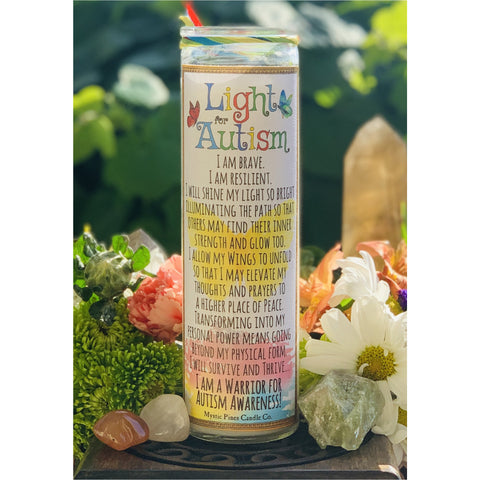Light for Autism Awareness Candle - Mystic Pines Candle Co.