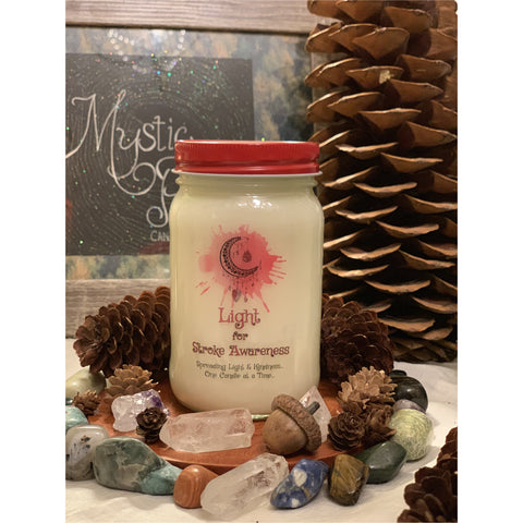 Light for Stroke Awareness Candle - Mystic Pines Candle Co.