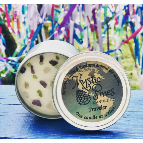 Travel Tin (Winter) - 6oz. - Mystic Pines Candle Co.
