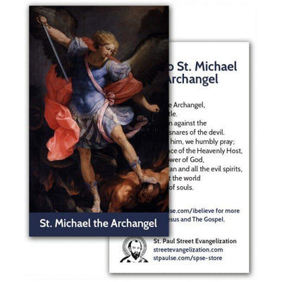 Holy Cards – St. Michael Archangel - Mystic Pines Candle Co.