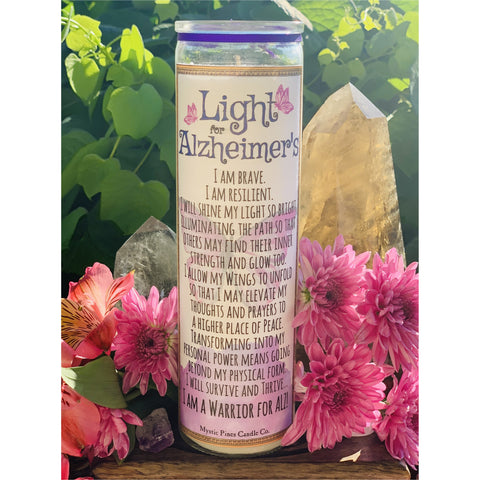 Light for Alzheimer's Disease Awareness - Mystic Pines Candle Co.
