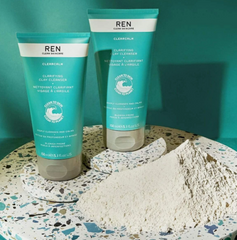 REN slean skincare clearcalm clarifying clay cleanser