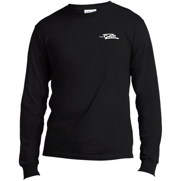 Czar Long Sleeve Cotton T-Shirt - White Logo