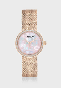 Coach Hayley Quartz Crystal Pink 14503438 Mother of Pearl Dial Watch