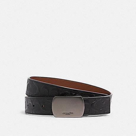 Coach Signature Reversible Buckle Cut To Size 101 Reversible Belt In Black