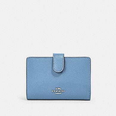 COACH MEDIUM CORNER ZIP WALLET 11484 IN SLATE