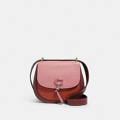 Coach Colorblock Remi 1330 Saddle  Bag In Rose Multi